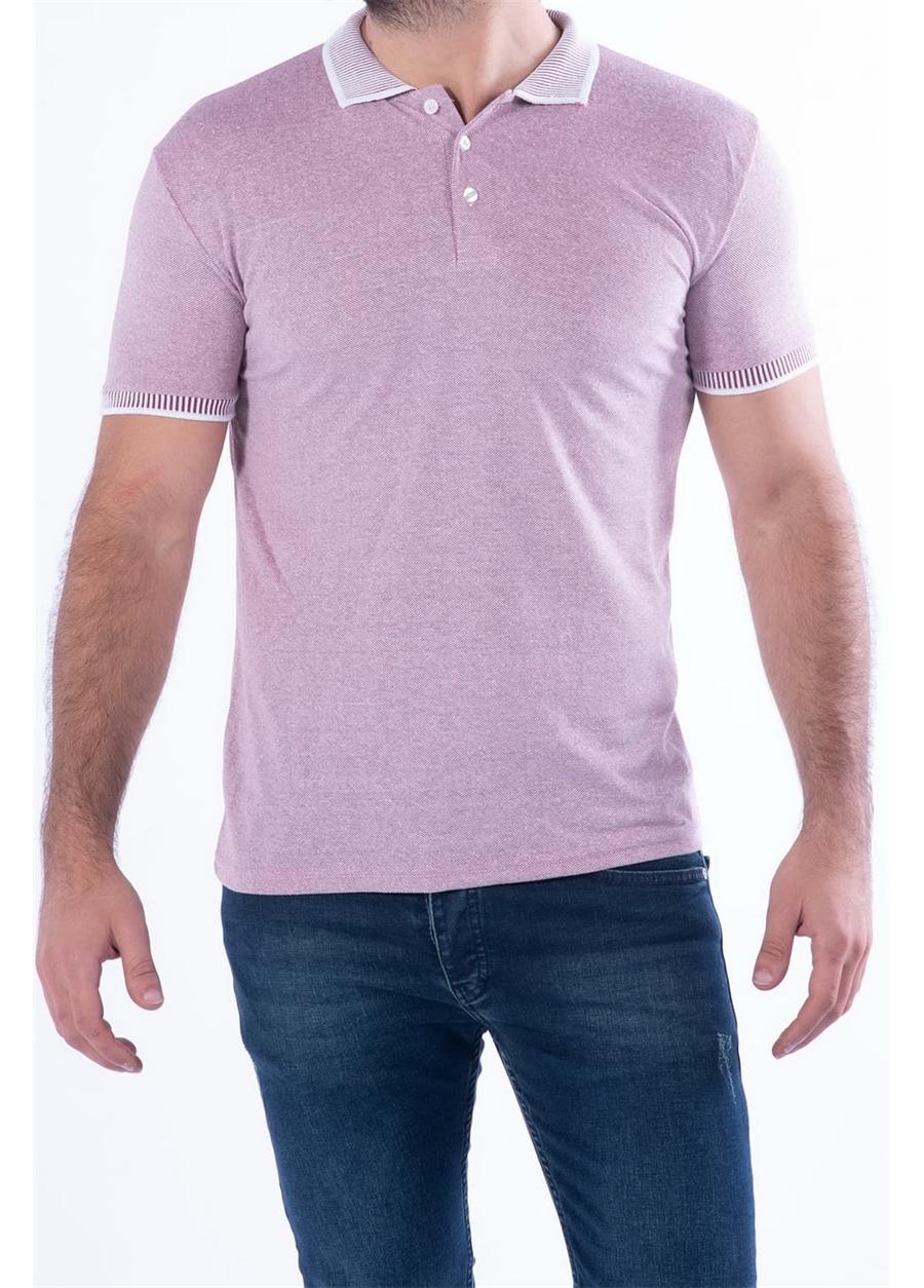 TS 814 Slim Fit Bordo Spor T-Shirt