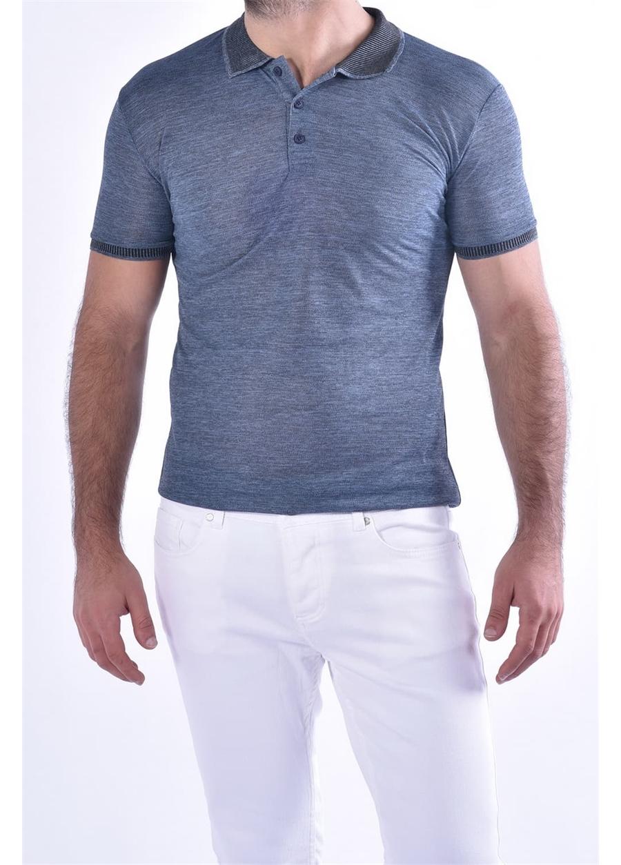 TS 814 Slim Fit Lacivert Spor T-Shirt