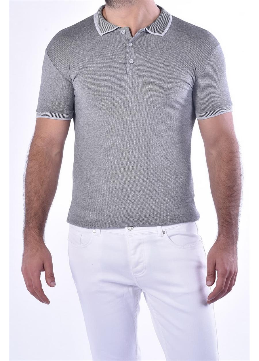 TS 814 Slim Fit Gri Spor T-Shirt