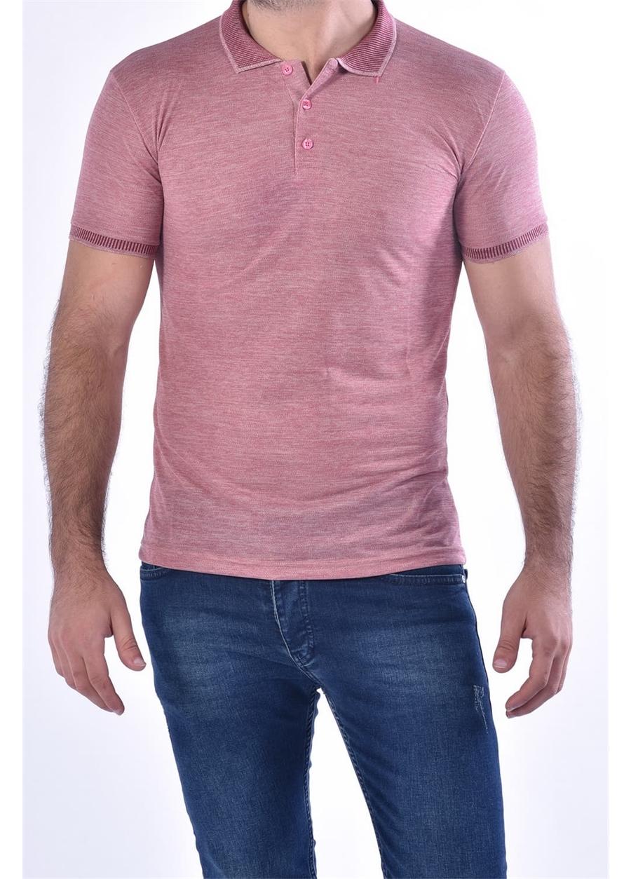 TS 814 Slim Fit Gül Kurusu Spor T-Shirt