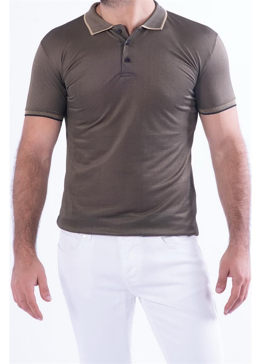 TS 814 Slim Fit A.Kahve Spor T-Shirt